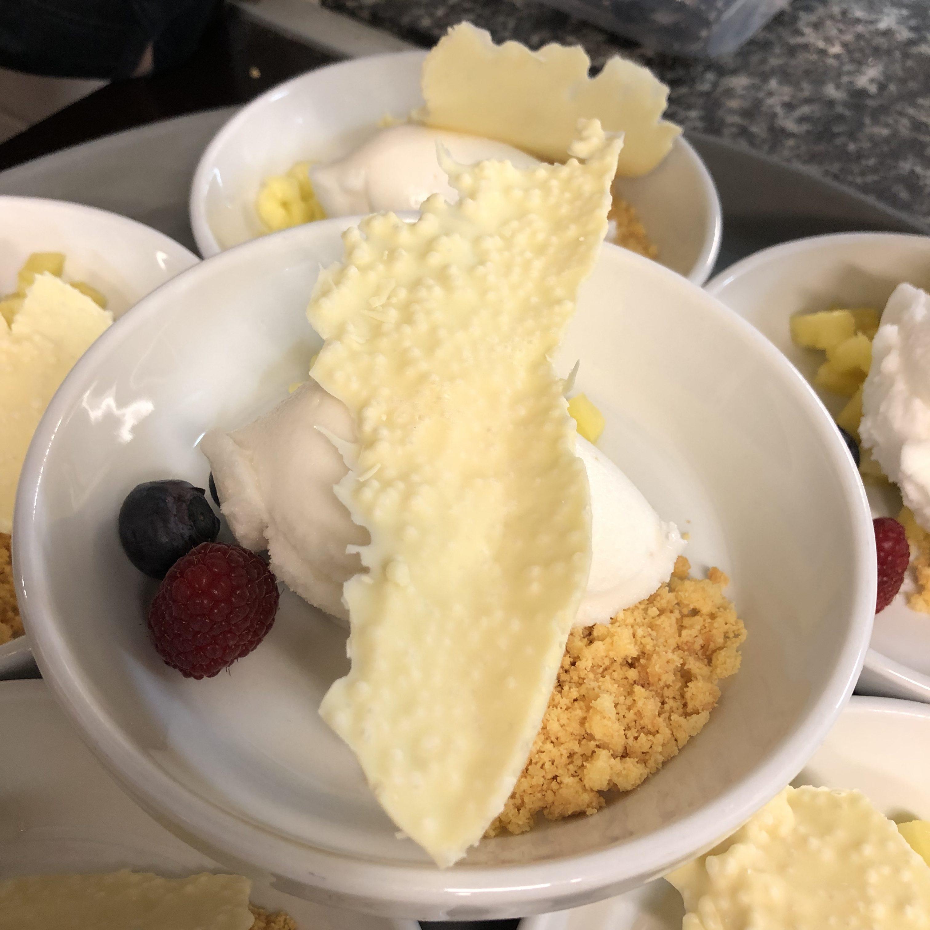 Dessert 1 bij De Plezanten Hof